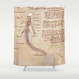Captivating Anatomy Of The Mermaid Shower Curtain