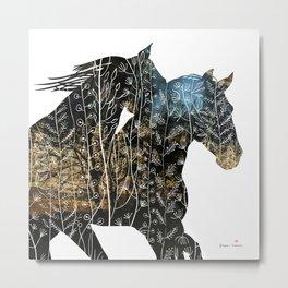 Autumn Horses II Metal Print
