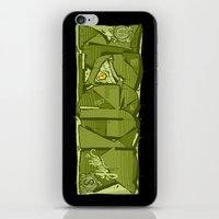 hustle iPhone & iPod Skins featuring HUSTLE by clogtwo