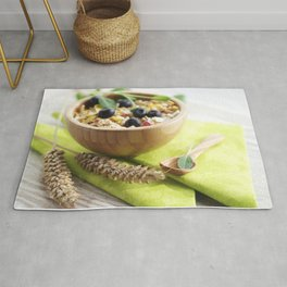Healthy through the day with cereal Rug