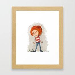 Fiery Redhead Framed Art Print