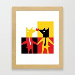 Bussines Kiss Framed Art Print