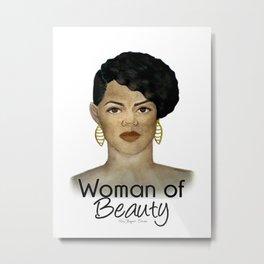 Woman of Beauty Metal Print