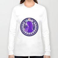 evil queen Long Sleeve T-shirts featuring Evil Queen  by NicoleGrahamART