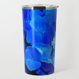 Deep Blue Hydrangea Travel Mug