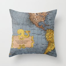 Crossing the Sea Throw Pillow