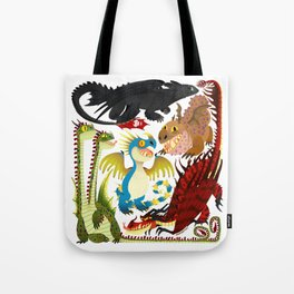 HTTYD- Dragons/Toothless and gang Tote Bag
