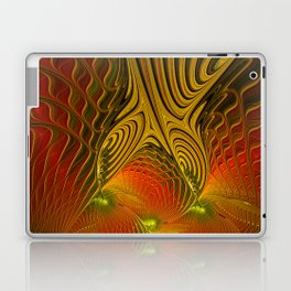 Mysterious and Luminous, Abstract Fractal Art Laptop & iPad Skin