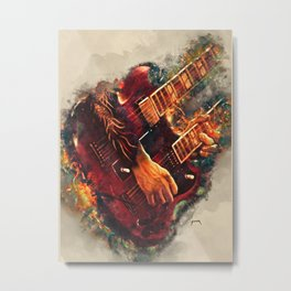Jimmy Page's doubleneck electric guitar Metal Print