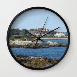 Newport Cliff Walk - Newport Rhode Island by Jeanpaul Ferro Wall Clock