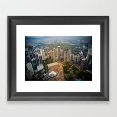 View from the Petronas twin towers Framed Art Print