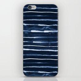 Electric Ink Indigo Navy Stripes iPhone Skin