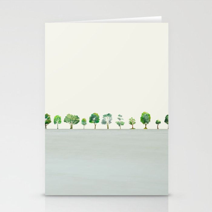A Row Of Trees Stationery Cards