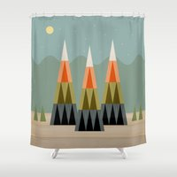 clear Shower Curtains featuring Clear Skies by Tammy Kushnir