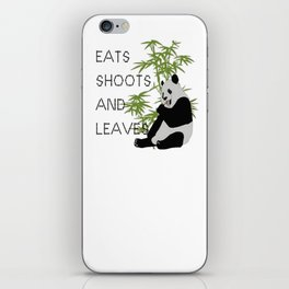 Eats, Shoots and Leaves iPhone Skin