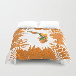 Florida Orange Blossom Wreath Duvet Cover