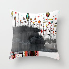 hot stuff drawing Throw Pillow