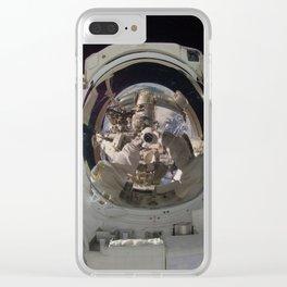 space selfie Clear iPhone Case