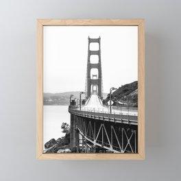 Golden Gate Bridge Black and White Framed Mini Art Print