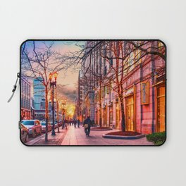 Boston at Christmas. Laptop Sleeve