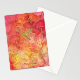 Floral Pink Flowers Vintage Pattern Romantic Bouquet Stationery Cards