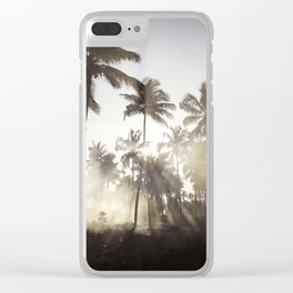 Palm Trees in The Sunlight Mist Photograph Clear iPhone Case