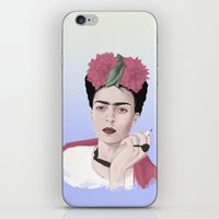frida iPhone & iPod Skins featuring Frida by Acromatiq