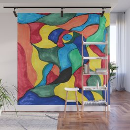 Stained Glass Eye Wall Mural