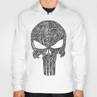 punisher Hoodies featuring Punisher  by christoph_loves_drawing