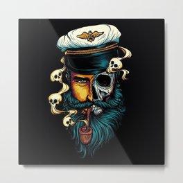 Pirate Captain Metal Print