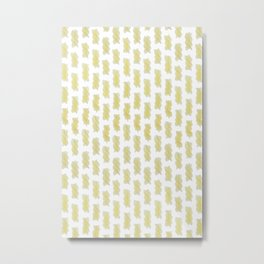 A lot of cooked spiral pasta pattern Metal Print