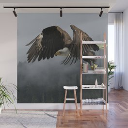 Vision Quest - Bald Eagle & Mists Wall Mural
