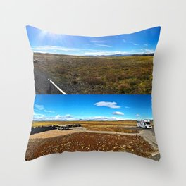Rest Stop on Iceland's Golden Circle Panorama (Collage) Throw Pillow
