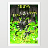 Percentages of the land Art Print