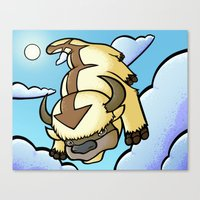 appa Canvas Prints featuring Appa by Jelly Soup Studios