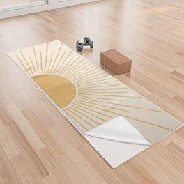 Sun #5 Yellow Yoga Towel