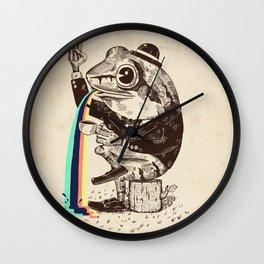 Strange Frog Wall Clock