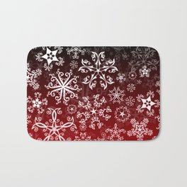 Symbols in Snowflakes on Holly Berry Bath Mat