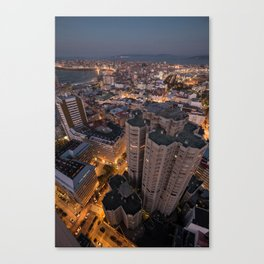 The streets are glowing Canvas Print
