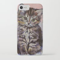 kitten iPhone & iPod Cases featuring Kitten by Michael Creese