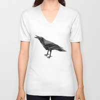 raven V-neck T-shirts featuring Raven  by mailboxdisco