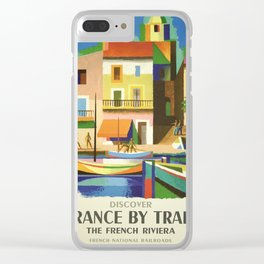 Vintage poster - French Riviera Clear iPhone Case