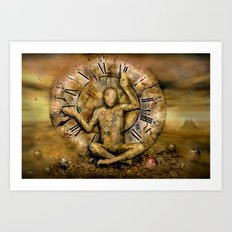 Meditation time Art Print