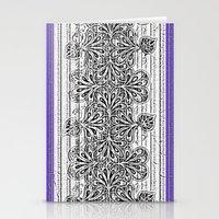 newspaper Stationery Cards featuring Newspaper Stripe by Vikki Salmela