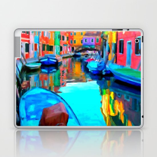 Colors In Venice - Painting Style Laptop & iPad Skin