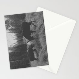 Moose Battle Stationery Cards