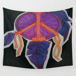 Peace Dreamcatcher Wall Tapestry