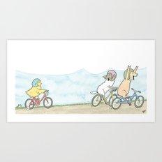 Lily's Training Wheels Art Print