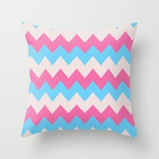 Cotton Candy Chevron Throw Pillow