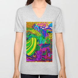 Fantacy Aquarium Unisex V-Neck